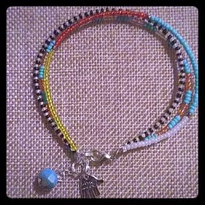 Seed Bead Trio Bracelet with Charms